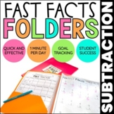 Subtraction Math Fact Fluency   Fast Facts Folders