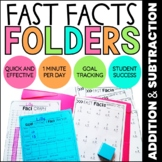 Addition & Subtraction Math Fact Fluency | Math Fact Practice Folders BUNDLE