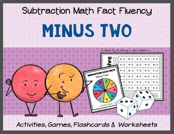 Subtraction Math Fact Fluency: Minus Two (-2)