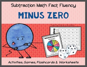 Subtraction Math Fact Fluency: Minus Zero (-0)