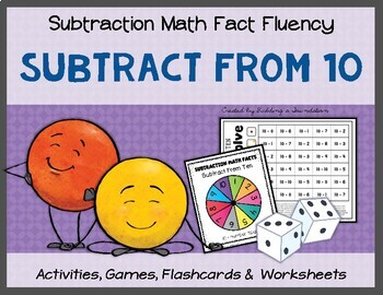 Subtraction Math Fact Fluency: Subtract From Ten