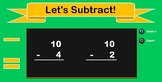 Subtraction Math Fact Game Center for Interactive White Boards