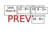 Subtraction Math Fact Sort