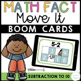 Subtraction Math Facts Boom Cards™ - Subtraction to 10 Dis