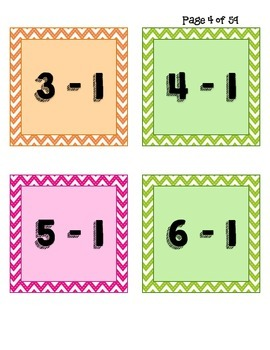Subtraction Math Facts Candy Land - Candy Land Board Included