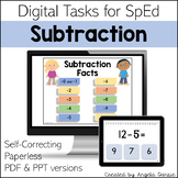 Subtraction Math Facts | Digital Tasks for Special Education