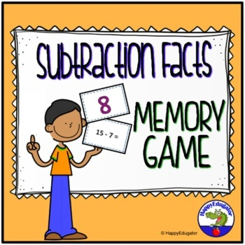 Subtraction Math Facts Game