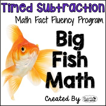"""Subtraction Math Facts Timed Tests-  """"Big Fish Math"""""""