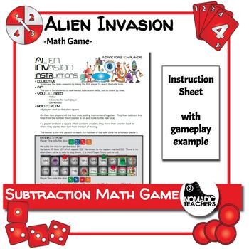 Subtraction Math Game: Alien Invasion