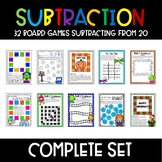 Subtraction Math Games GROWING BUNDLE!