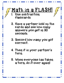 Subtraction Math In a Flash