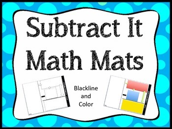 Subtraction Math Mats