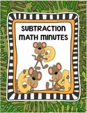 Subtraction Worksheets 1st Grade Subtraction Fact Practice & Subtraction Fluency