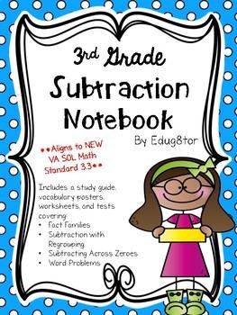 Subtraction Math Notebook