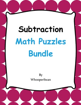 Subtraction Puzzles Bundle