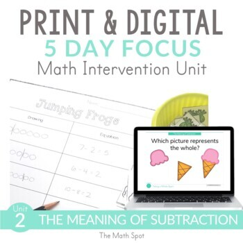 Subtraction Math RtI Intervention for 1st Graders