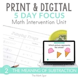 First Grade Subtraction Unit