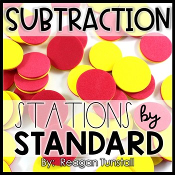 Subtraction Math Stations First Grade