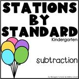 Subtraction Math Stations Kindergarten