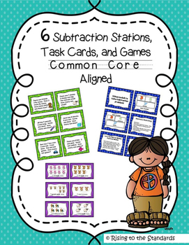 Subtraction Math Stations and Task Cards