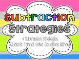 Subtraction Math Strategies