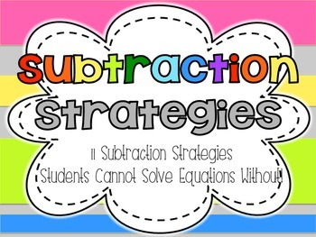 Subtraction Math Strategies