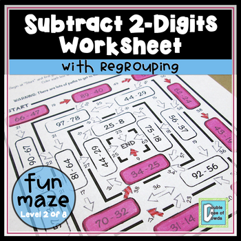 Subtraction Maze (2-Digit with Regrouping)