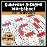 Subtraction Maze (3-Digit with Regrouping)