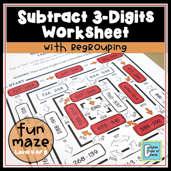 Subtraction Worksheet (3-Digit with Regrouping)