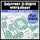 Subtraction Worksheet (2-Digit without Regrouping)