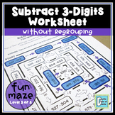 Subtraction Maze (3-Digit without Regrouping)