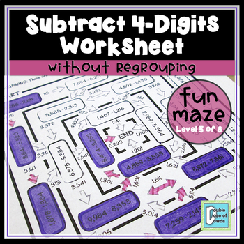Subtraction Worksheet (4-Digit without Regrouping)