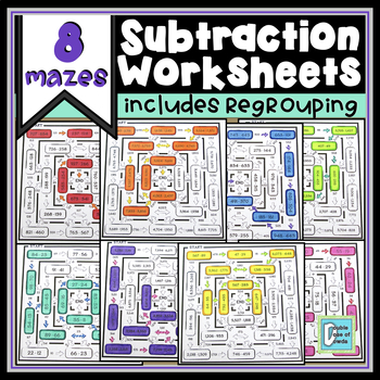 Subtraction Worksheet BUNDLE