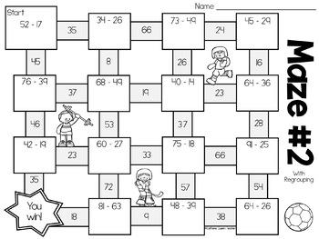 Subtraction Mazes