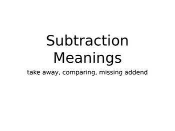 Subtraction Meanings Powerpoint