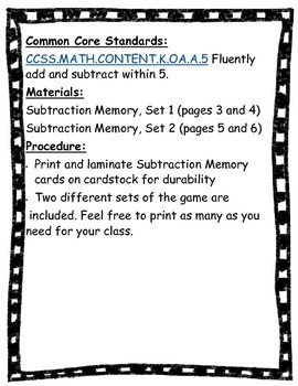 Subtraction Memory