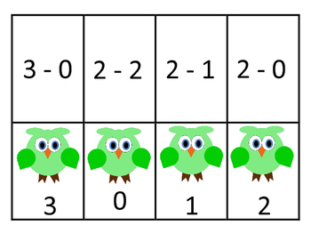 Subtraction Memory Game (Differences 0-9)