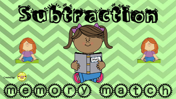 Subtraction Memory Match Game