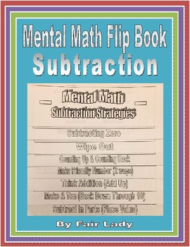 Subtraction Mental Math Flip Book
