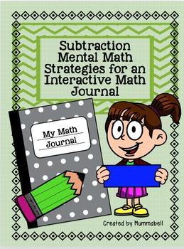 Subtraction Mental Math Strategies for Interactive Math Journals