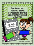 Subtraction Mental Math Strategies for Interactive Math Journals