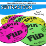 Subtraction Mental Math Strategy Spinners