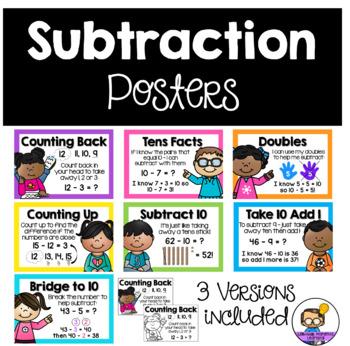Subtraction Mental Strategies Posters