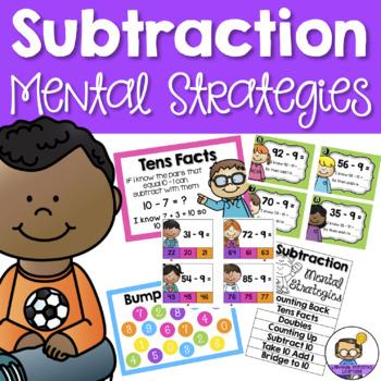 Subtraction Strategies - Posters, Games, Activities & Worksheets