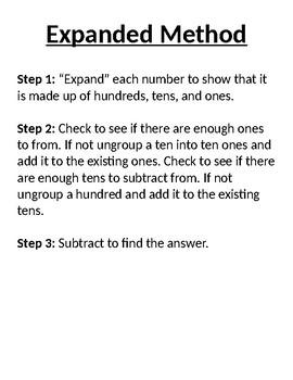 Subtraction Methods