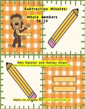 Subtraction Minutes: Common Core work practicing first grade subtraction fluency