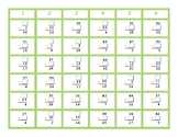 Subtraction Missing Number Four in a Row