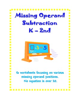 Subtraction Missing Number Operand