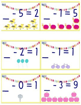 Subtraction Missing Numbers & Scoot
