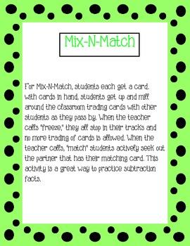 Subtraction Mix-N-Match